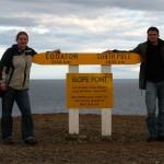 Andi und Kaddi am südlichsten Punkt